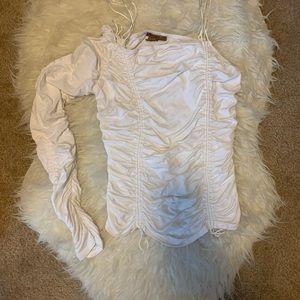 One sleeve women's adjustable top.